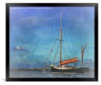 Thames Sailing Barge, Framed Print