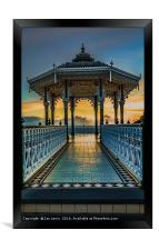The Victorian Bandstand at Brighton, Framed Print