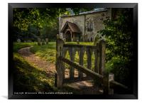 The Path To Ibstone Church, Framed Print