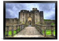 Caerphilly Castle Gatehouse, Framed Print