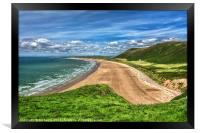 Rhossili Bay On The Gower Peninsula, Framed Print