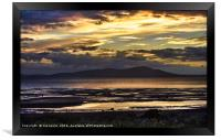 Evening Light Over The Solway Firth, Framed Print
