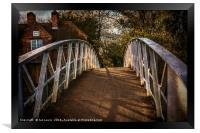 Crossing The Thames At Little Wittenham, Framed Print