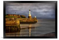 Early Morning At Maryport Harbour, Framed Print