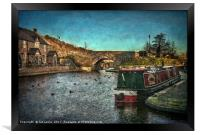Brecon Canal Basin in Winter, Framed Print