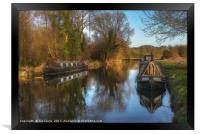Narrow Boats At Woolhampton, Framed Print