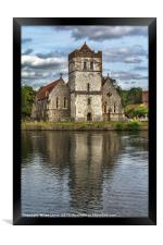 Bisham Church Reflected, Framed Print