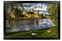 Late Afternoon At Caerphilly Castle, Framed Print