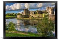 Caerphilly Castle Moat, Framed Print