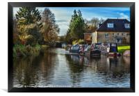 Hungerford Town Wharf And Lock, Framed Print