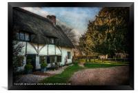 Sulhamstead Abbots Cottages, Framed Print