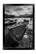 Derwentwater Rowing Boat, Framed Print