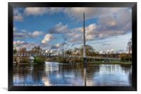 Footbridge Over The Thames At Reading, Framed Print