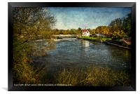 Goring on Thames Weir, Framed Print
