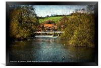 Over The Thames To Streatley, Framed Print