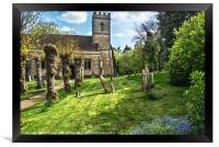 Shipton on Cherwell Church, Framed Print
