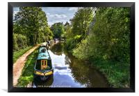 Boats On The Oxford Canal, Framed Print