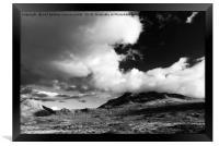Big Skye mono, Framed Print