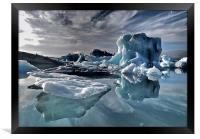 Dramatic Iceberg, Framed Print