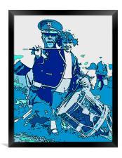 Drummer and Child, Framed Print