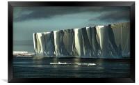 Iceberg in the Ross Sea at Night, Framed Print