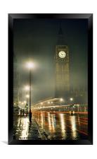 A Glowing Big Ben, Framed Print