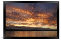 Sunset on the Beagle Channel, Framed Print