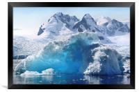 Iceberg in Cierva Cove, Antarctica, Framed Print