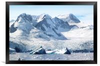 Cierva Cove Glaciers & Iceberg, Framed Print