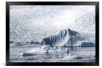Cierva Cove Iceberg & Glaciers, Framed Print