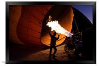 Preparing a Hot Air Balloon, Framed Print