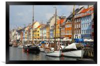 Nyhavn Copenhagen Denmark, Framed Print