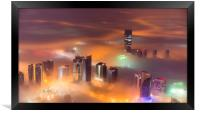 Misty City, Framed Print