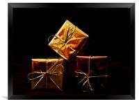 Golden Presents, Framed Print