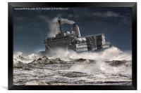 "RFA. Fort Austin "" Facing the storm"", Framed Print"