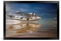 PBY Catalina, Low pass, Framed Print
