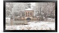 Snowfall,The Roman Boathouse ,Birkenhead park, Framed Print