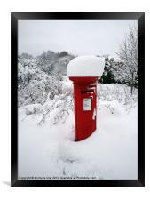 Snow Topped Post Box, Framed Print