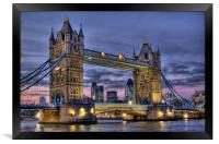 Tower Bridge And The City, Framed Print