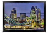 The City Of London, Framed Print