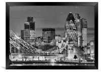 The City Of London BW, Framed Print