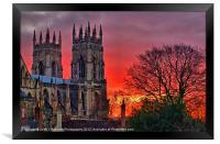 York Minster Sunset, Framed Print