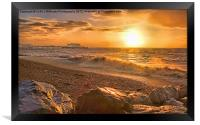 Worthing Beach Sunrise 3, Framed Print