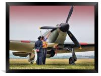 Hurricane - Duxford Flying Legends 2013, Framed Print