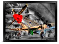 North American P-51D Mustang - Hendon, Framed Print