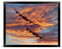 Out Of The Sunset - The 2 Lancasters 1, Framed Print