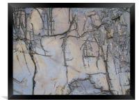 Kimmeridge Rocks 1, Framed Print