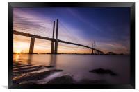 Queen Elizabeth II Bridge, Framed Print