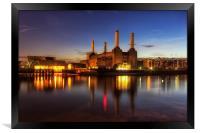 Battersea Twilight, Framed Print