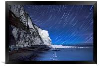 White Cliffs of Dover on a Starry Night, Framed Print